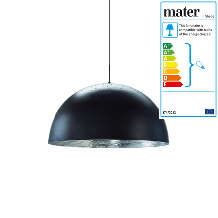 Shade Pendant Lamp Ø 40 cm by Mater in black