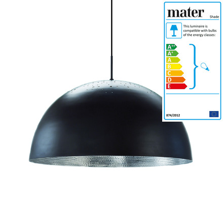 Shade Pendant Lamp Ø 60 cm by Mater in black