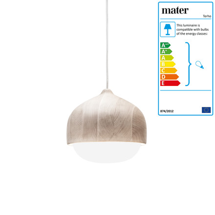 Terho pendant lamp by Mater in medium size