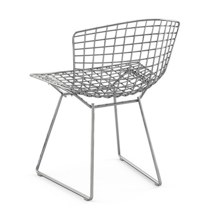 Back of the steel wire chair by Knoll
