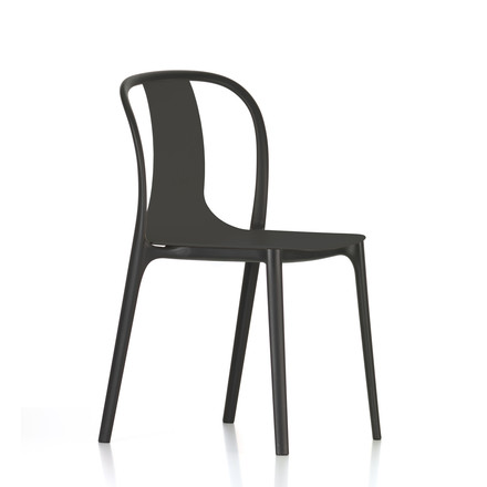 Belleville Chair Plastic by Vitra in deep black