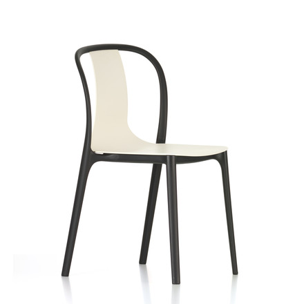 Belleville Chair Plastic by Vitra in cream