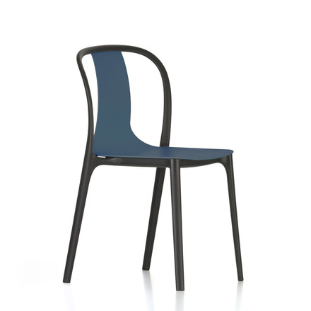 Belleville Chair Plastic by Vitra in sea blue