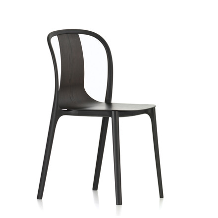 Belleville Chair Wood by Vitra in black ash