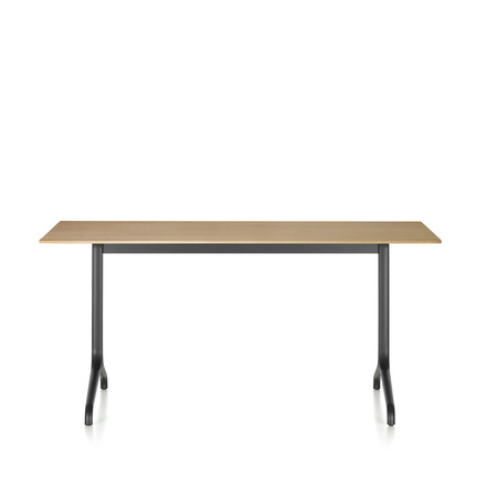 Belleville dining table indoor, rectangular, 160 x 75 cm by Vitra in light oak veneer