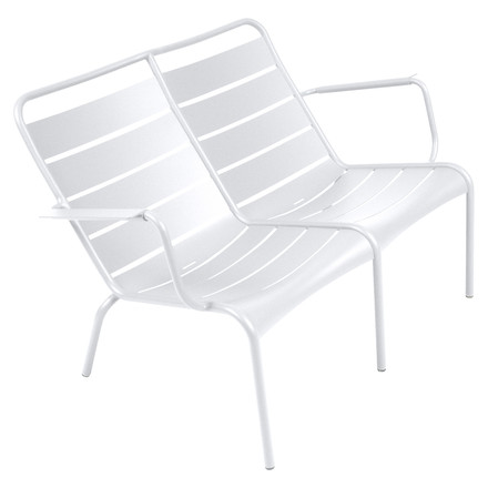 Luxembourg Low Armchair Duo by Fermob in cotton white