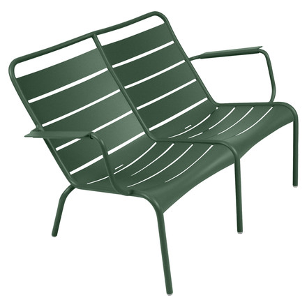 Luxembourg Low Armchair Duo by Fermob in cedar green