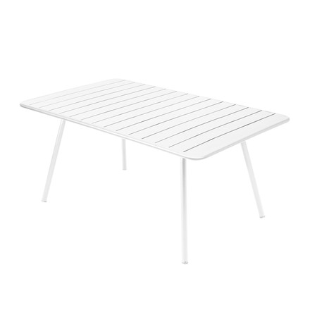 Luxembourg Table 165 x 100cm by Fermob in cotton white