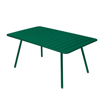 Luxembourg Table 165 x 100cm by Fermob in cedar green