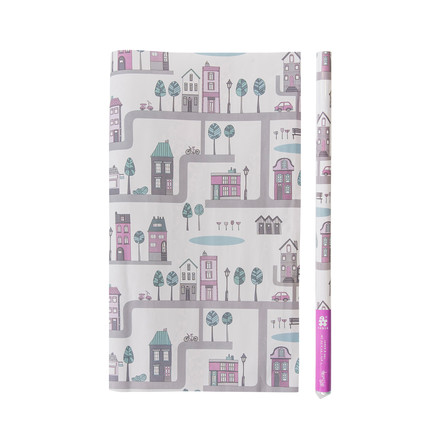 Wrapping Paper Village by Sebra for girls