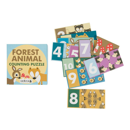 Forest puzzle with numbers from Sebra