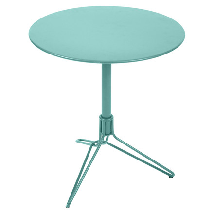 Fermob - Flower Bistro Table, round, Ø 67 cm, turquoise blue