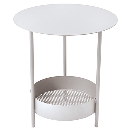 Salsa Side Table by Fermob in cotton white