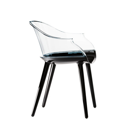 Cyborg chair by Magis in black/transparent