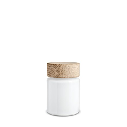 Palet salt mill 75 ml by Holmegaard in white