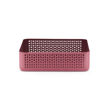 Nic Nac Organizer 22.5 x 22.5 x 6h cm by Normann Copenhagen in dark red