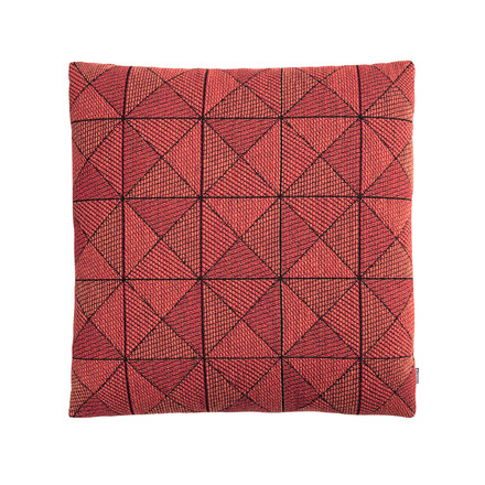 Geometric Tile Cushion by Muuto in orange red