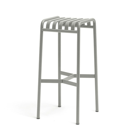 Palissade bar stool by Hay in light grey