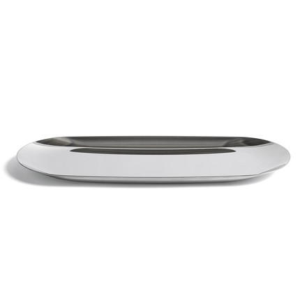 The tray by Hay with a size of 23.5 x 9.5cm in silver