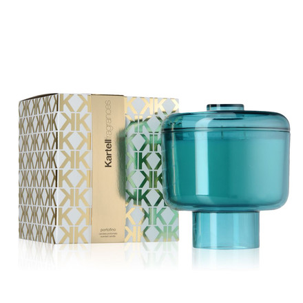 Scented candle Nikko by Kartell in blue with the fragrance Portofino