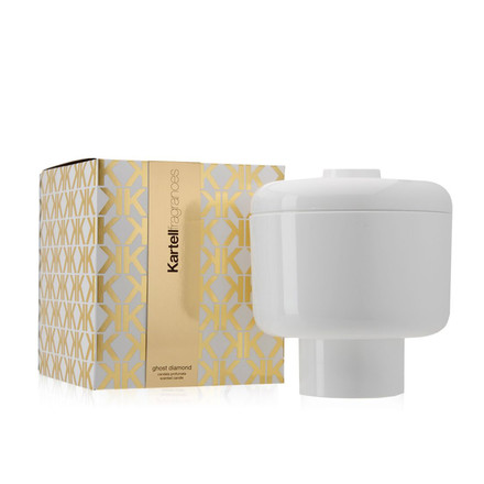 Scented candle Nikko by Kartell in white with the fragrance Ghost Diamond