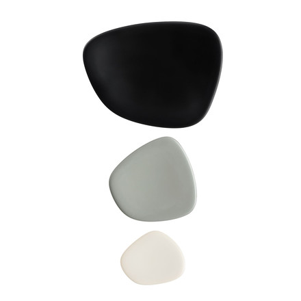 Namasté tray set by Kartell in black, grey and taupe