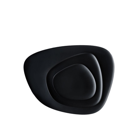 Namasté tray set by Kartell in black