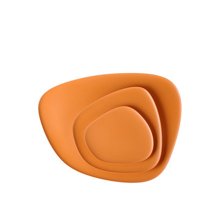 Namasté tray set by Kartell in orange