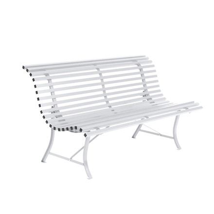 Louisiane Bench in the colour cotton white by Fermob