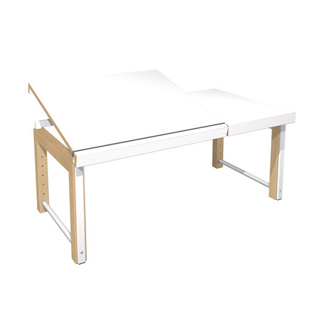 Ziggy desk, divided top by de Breuyn in white