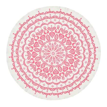 Tablecloth Lace by Vitra in grey/pink