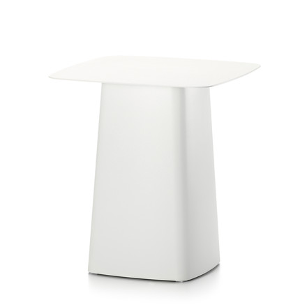 Vitra - Metal Side Table Outdoor, medium, ivory (limited)