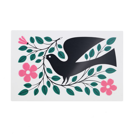 Sticker Dove by Vitra in green and pink