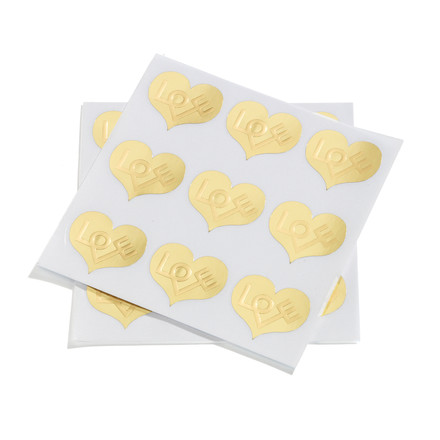 Sticker love heart by Vitra in gold