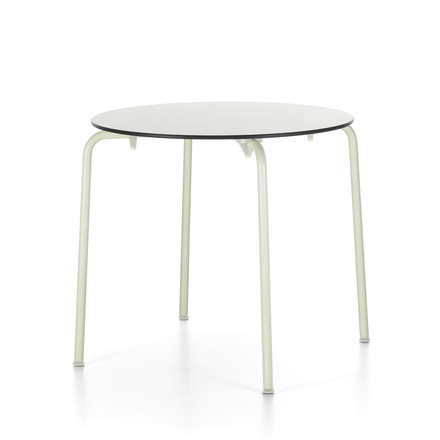 Round Hal Table Outdoor by Vitra in white