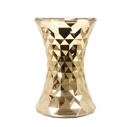 Kartell - Stone Side Table and Stool, gold