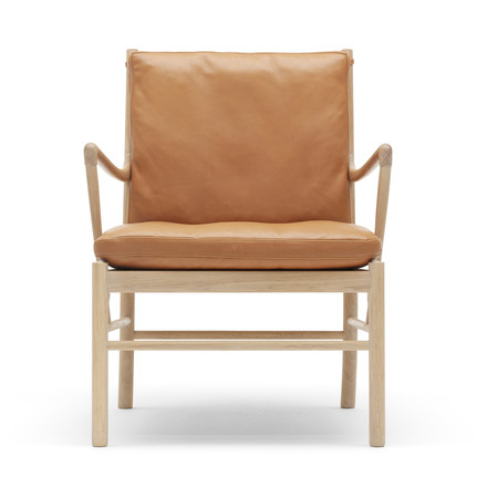 OW149 Colonial Chair by Carl Hansen made from soaped oak and leather