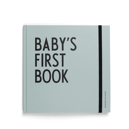 Baby's First Book by Design Letters in turquoise