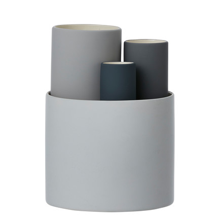 Collect vase set of 4 by ferm Living in grey