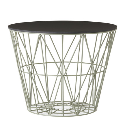 ferm Living - Wire Basket Top Small, black stained oak