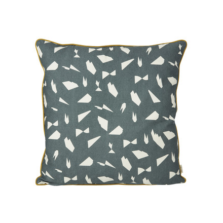 Mini Cut Cushion 50 x 50 cm by ferm Living in Rose