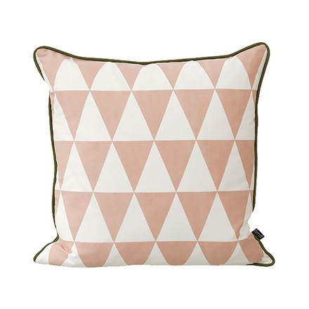 Geometry Cushion 50 x 50 cm by ferm Living in Rose
