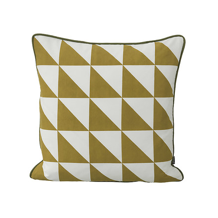 Geometry Cushion 50 x 50 cm by ferm Living in Curry