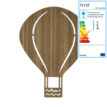 Hot-Air Balloon Lamp by ferm Living in smoked oak