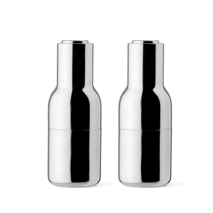 Menu - Bottle Salt and Pepper Grinder Set, polished Stainless Steel