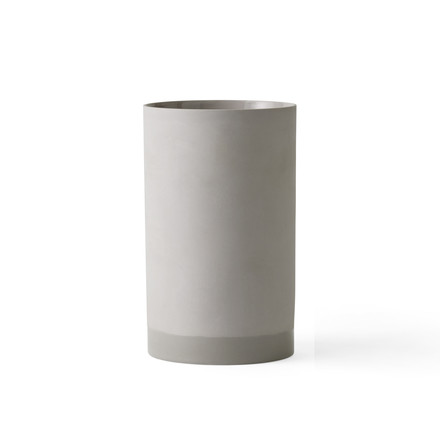 The Cylindrical Vase L by Menu in grey