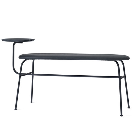 The Afteroom Bench by Menu in black with black dunes