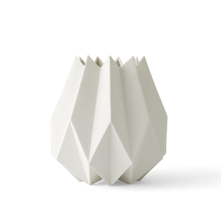 The Folded Vase tall by Menu in white