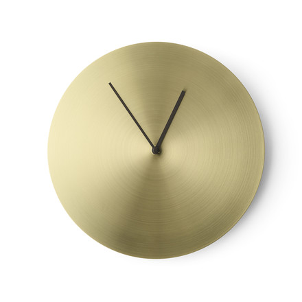 The Norm Wall Clock by Menu in brushed brass