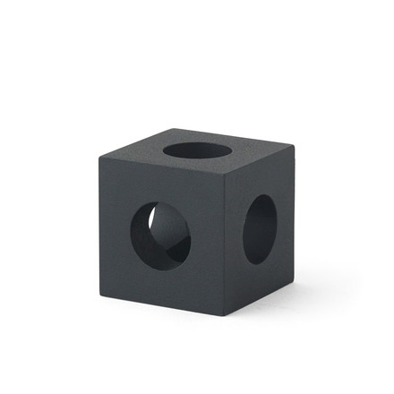 The Cube Candle Holder by Menu in black